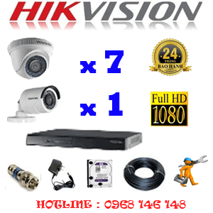 Lắp Đặt Trọn Bộ 8 Camera Hikvision 2.0Mp Lite (Hik-27314)-HIK-27314