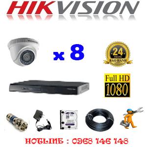 Lắp Đặt Trọn Bộ 8 Camera Hikvision 2.0Mp Lite (Hik-28300)-HIK-28300
