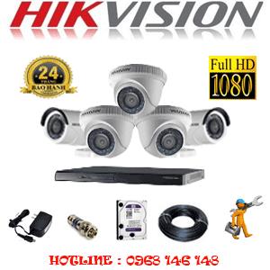 Lắp Đặt Trọn Bộ 5 Camera Hikvision 2.0Mp Lite (Hik-23324)-HIK-53324