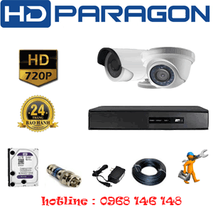 TRỌN BỘ 2 CAMERA HDPARAGON 1.0MP (PRG-11112)-PRG-11112