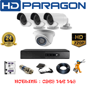 TRỌN BỘ 4 CAMERA HDPARAGON 1.0MP (PRG-11132)-PRG-11132