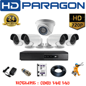 TRỌN BỘ 5 CAMERA HDPARAGON 1.0MP (PRG-11142)-PRG-11142