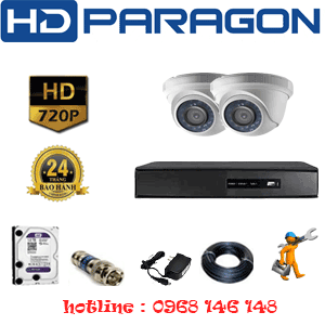 TRỌN BỘ 2 CAMERA HDPARAGON 1.0MP (PRG-12100)-PRG-12100
