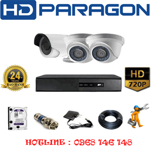 Trọn Bộ 3 Camera Hdparagon 1.0Mp (Prg-12112)-PRG-12112
