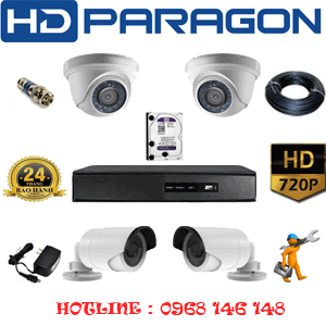 TRỌN BỘ 4 CAMERA HDPARAGON 1.0MP (PRG-12122)-PRG-12122