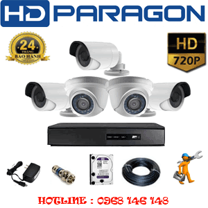 TRỌN BỘ 5 CAMERA HDPARAGON 1.0MP (PRG-12132)-PRG-12132