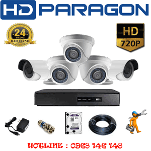 TRỌN BỘ 5 CAMERA HDPARAGON 1.0MP (PRG-13122)-PRG-13122
