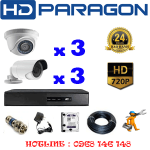 TRỌN BỘ 6 CAMERA HDPARAGON 1.0MP (PRG-13132)-PRG-13132