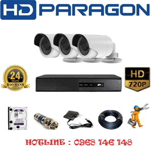 TRỌN BỘ 3 CAMERA HDPARAGON 1.0MP (PRG-13200)-PRG-13200