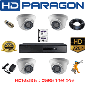 Trọn Bộ 4 Camera Hdparagon 1.0Mp (Prg-14100)-PRG-14100