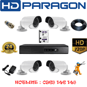 TRỌN BỘ 4 CAMERA HDPARAGON 1.0MP (PRG-14200)-PRG-14200