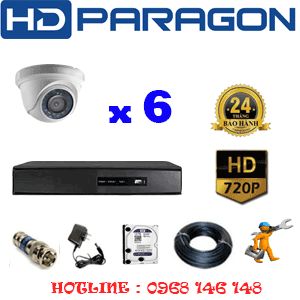 TRỌN BỘ 6 CAMERA HDPARAGON 1.0MP (PRG-16100)-PRG-16100