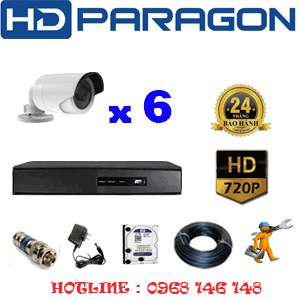 TRỌN BỘ 6 CAMERA HDPARAGON 1.0MP (PRG-16200)-PRG-16200