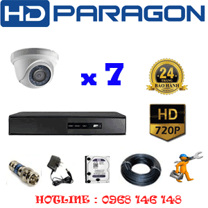 TRỌN BỘ 7 CAMERA HDPARAGON 1.0MP (PRG-17100)-PRG-17100