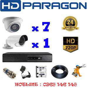 Lắp Đặt Trọn Bộ 8 Camera Hdparagon 1.0Mp (Prg-17112)-PRG-17112