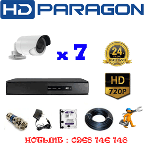 TRỌN BỘ 7 CAMERA HDPARAGON 1.0MP (PRG-17200)-PRG-17200