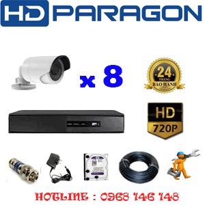 Lắp Đặt Trọn Bộ 8 Camera Hdparagon 1.0Mp (Prg-18200)-PRG-18200