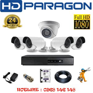 TRỌN BỘ 5 CAMERA HDPARAGON 2.0MP LITE (PRG-21344)-PRG-21344