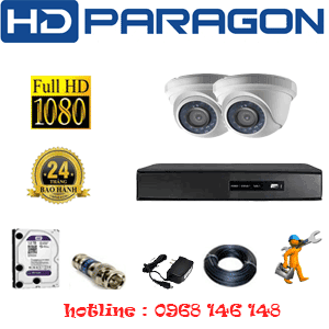 TRỌN BỘ 2 CAMERA HDPARAGON 2.0MP LITE (PRG-22300)-PRG-22300