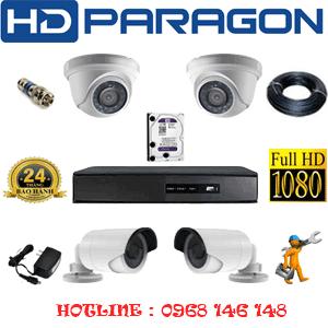 Lắp Đặt Trọn Bộ 4 Camera Hdparagon 2.0Mp Lite (Prg-22324)-PRG-22324