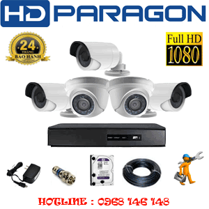 TRỌN BỘ 5 CAMERA HDPARAGON 2.0MP LITE (PRG-22334)-PRG-22334