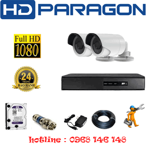 TRỌN BỘ 2 CAMERA HDPARAGON 2.0MP LITE (PRG-22400)-PRG-22400
