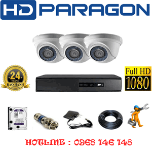 TRỌN BỘ 3 CAMERA HDPARAGON 2.0MP LITE (PRG-23300)-PRG-23300