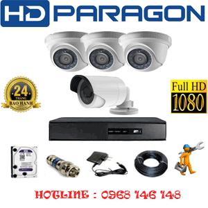 Lắp Đặt Trọn Bộ 4 Camera Hdparagon 2.0Mp Lite (Prg-23314)-Prg-23314