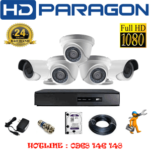 TRỌN BỘ 5 CAMERA HDPARAGON 2.0MP LITE (PRG-23324)-PRG-23324