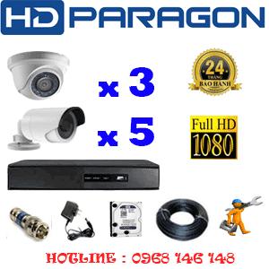 Lắp Đặt Trọn Bộ 8 Camera Hdparagon 2.0Mp Lite (Prg-23354)-PRG-23354