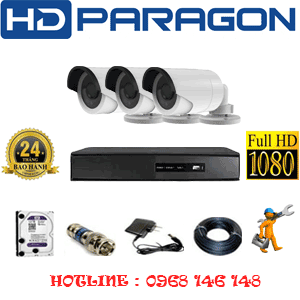 TRỌN BỘ 3 CAMERA HDPARAGON 2.0MP LITE (PRG-23400)-PRG-23400