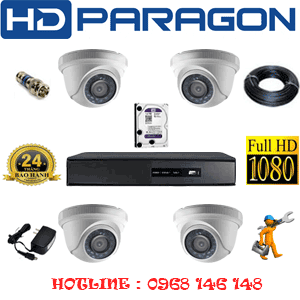 TRỌN BỘ 4 CAMERA HDPARAGON 2.0MP LITE (PRG-24300)-PRG-24300