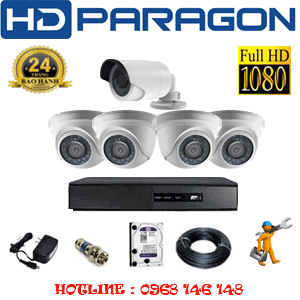 TRỌN BỘ 5 CAMERA HDPARAGON 2.0MP LITE (PRG-24314)-PRG-24314