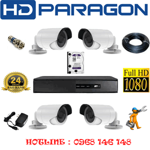 TRỌN BỘ 4 CAMERA HDPARAGON 2.0MP LITE (PRG-24400)-PRG-24400
