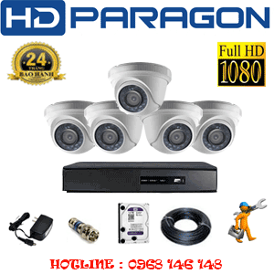 TRỌN BỘ 5 CAMERA HDPARAGON 2.0MP LITE (PRG-25300)-PRG-25300
