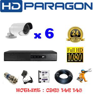 Lắp Đặt Trọn Bộ 6 Camera Hdparagon 2.0Mp Lite (Prg-26400)-PRG-26400