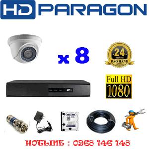 Lắp Đặt Trọn Bộ 8 Camera Hdparagon 2.0Mp Lite (Prg-28300)-PRG-28300