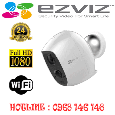 Lắp Đặt Trọn Bộ 1 Camera Wifi Ezviz 2.0Mp Cs-C3A-A0-1C2Wpmfbr-CS-C3A-A0-1C2WPMFBR