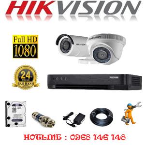 Lắp Đặt Trọn Bộ 2 Camera Hikvision 2.0Mp  (Hik-21314F)-HIK-21314F