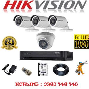 TRỌN BỘ 4 CAMERA HIKVISION 2.0MP (HIK-21334F)-HIK-21334F