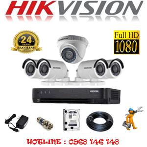 TRỌN BỘ 5 CAMERA HIKVISION 2.0MP (HIK-21344F)-HIK-21344F