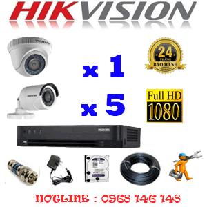 TRỌN BỘ 6 CAMERA HIKVISION 2.0MP (HIK-21354F)-HIK-21354F