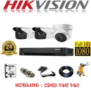 TRỌN BỘ 3 CAMERA HIKVISION 2.0MP (HIK-21728)-HIK-21728