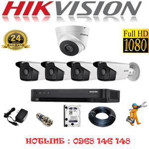 TRỌN BỘ 5 CAMERA HIKVISION 2.0MP (HIK-21748)-HIK-21748