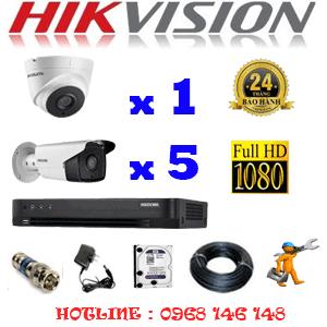 TRỌN BỘ 6 CAMERA HIKVISION 2.0MP (HIK-21758)-HIK-21758
