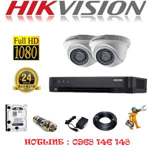 TRỌN BỘ 2 CAMERA HIKVISION 2.0MP (HIK-22300F)-HIK-22300F