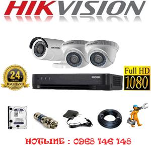 TRỌN BỘ 3 CAMERA HIKVISION 2.0MP (HIK-22314F)-HIK-22314F