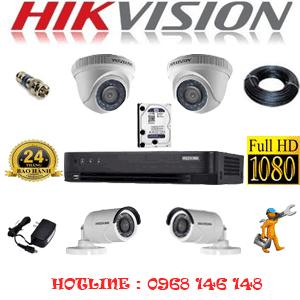TRỌN BỘ 4 CAMERA HIKVISION 2.0MP (HIK-22324F)-HIK-22324F