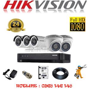 TRỌN BỘ 5 CAMERA HIKVISION 2.0MP (HIK-22334F)-HIK-22334F