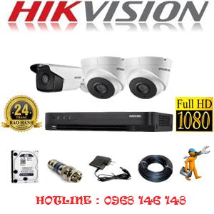 TRỌN BỘ 3 CAMERA HIKVISION 2.0MP (HIK-22718)-HIK-22718